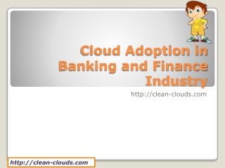 23.Cloud Adoption in Banking and Finance Industry