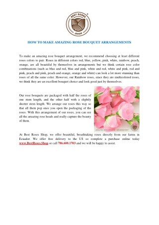 HOW TO MAKE AMAZING ROSE BOUQUET ARRANGEMENTS