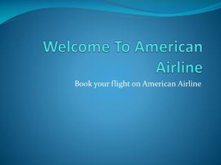 American Airlines Flight Change Fee