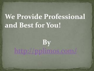 We Provide Professional and Best for You!