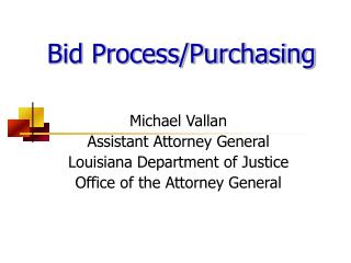 Bid Process/Purchasing