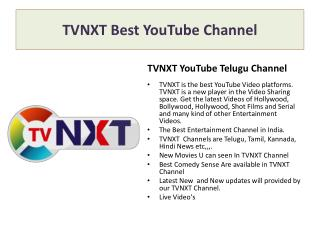 TVNXT | Youtube Channel, video channel, TVNXT channel.