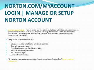NORTON.COM/SETUP ACTIVATE AND DOWNLOAD YOUR NORTON ACCOUNT