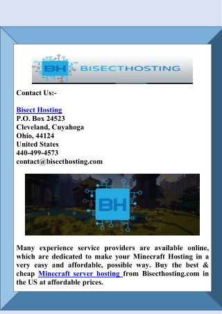 Find the Best & Cheap Minecraft Server Hosting Provider in US