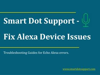 Troubleshoot Alexa Devices Issues 866-670-0113