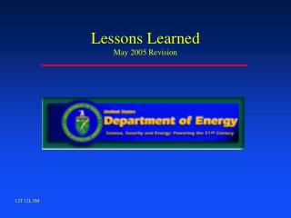 Lessons Learned May 2005 Revision