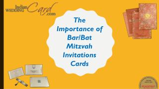 The Importance of Bar/Bat Mitzvah Invitations Cards