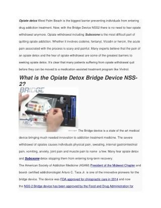 Opiate Detox West Palm Beach Options