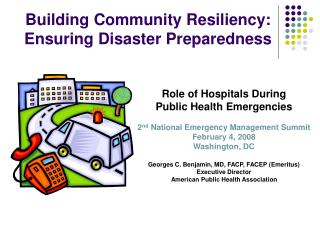 Building Community Resiliency: Ensuring Disaster Preparedness