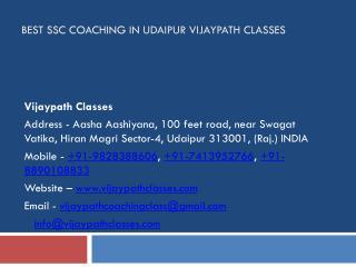 Best SSC Coaching in Udaipur Vijaypath Classes