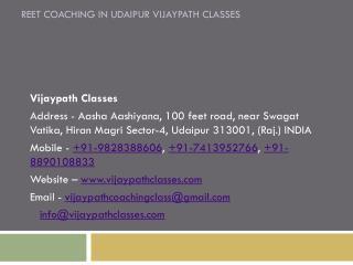 Best REET Coaching in Udaipur Vijaypath Classes