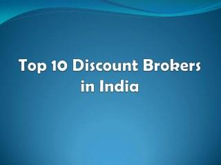 Top 10 Discount Brokers in India 2018 - Investallign
