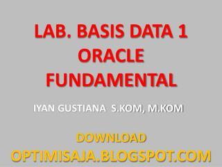 Pengantar Oracle Fundamental