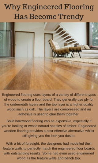 Today's Trends Engineered Flooring For Interior Design