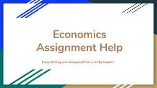Grab Best Online Economics Assignment Help by EssayCorp