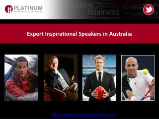 Expert Inspirational Speakers in Australia