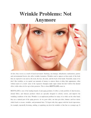 Wrinkle Problems: Not Anymore