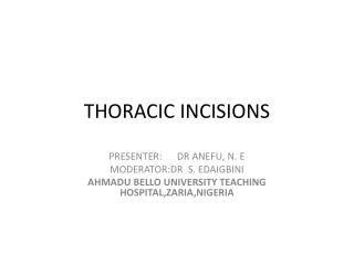 THORACIC  INCISIONS