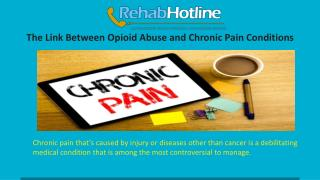 The Link Between Opioid Abuse and Chronic Pain Conditions