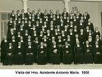 Visita del Hno. Asistente Antonio Mar a.  1950