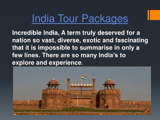 India Tour Packages-Incredibleindiacaranddriver