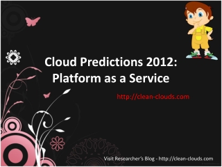 38.Cloud Predictions 2012-Platform as a Service