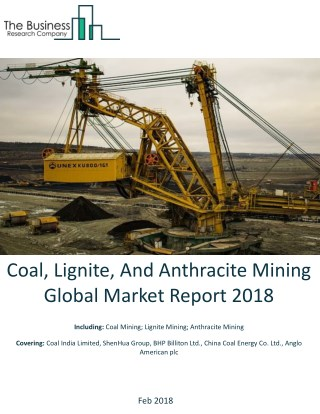 Coal, Lignite, And Anthracite Mining