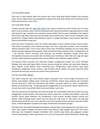 Agen Sbobet Casino Online Indonesia