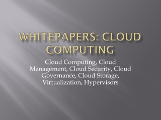 Cloud Computing Whitepapers