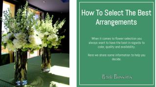 How To Select The Best wedding Arrangements to make a special day