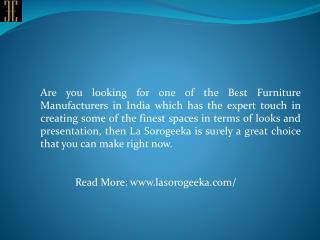 Top & Best Furniture Manufacturers in India
