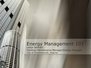 Energy Management 101