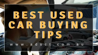 Best Used Car Buying Tips