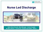Nurse Led Discharge