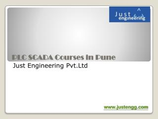 PLC SCADA Courses in pcmc, India | Just Engineeering