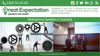 Motivational Speakers in Australia