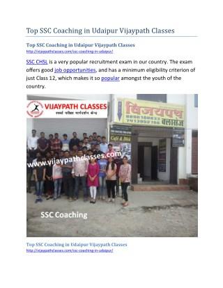 Top SSC Coaching in Udaipur Vijaypath Classes
