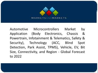 32-Bit Microcontrollers Segment to Lead Automotive Microcontrollers Market