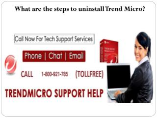 What are the steps to uninstall Trend Micro?