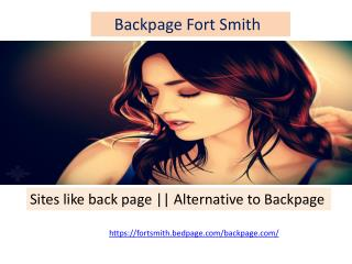 Alternative to back page||Backpage Fort Smith