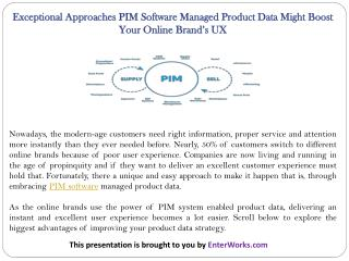 Exceptional Approaches PIM Software Managed Product Data Might Boost Your Online Brand'sUX