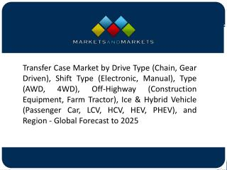 Electronic Shift on the Fly is Estimated to Hold the Largest Market Share in the Transfer Case Market