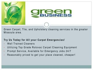 Green Cleaning Services in Missoula - Green Clean Carpet Machine