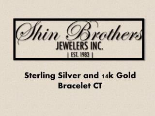 Sterling Silver and 14k Gold Bracelet CT