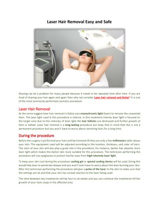 Laser Hair Removal Easy And Safe