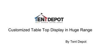 Customized Table Top Display in Huge Range