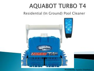 Turbo T 4 Robotic Pool Cleaner Features