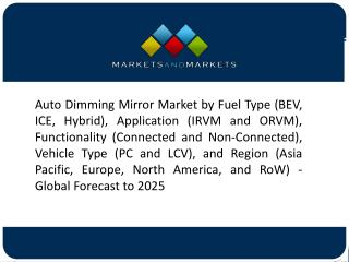 Increase in Trend of Integrating Additional Safety Features in Mirror is Anticipated to Boost the Growth of Auto Dimmin