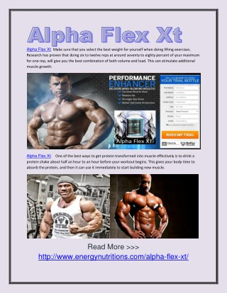 Alpha Flex Xt Knowing the best basic exercises for muscle building