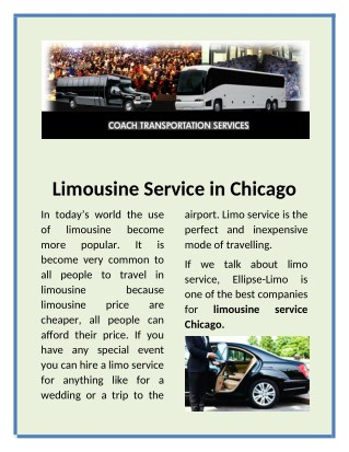 We provide the best deals on Chicago Charter Bus